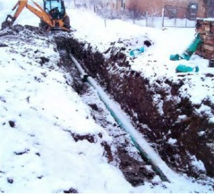 Underground sewer pipe repairs (January 2007)
